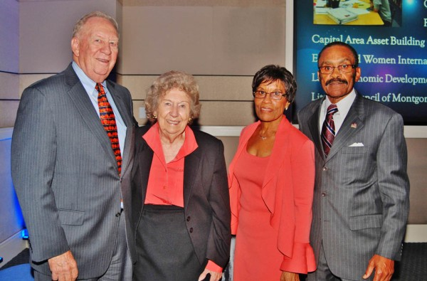 From left to right: Cliff Kendall (Founder, The Community Foundation for Montgomery County), Camille Kendall, Dorothy Graham, Solomon Graham.